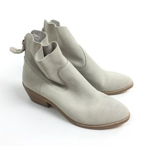Joie gray suede ankle boots